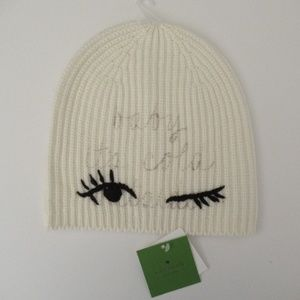 Kate Spade Baby Its Cold Outside Winking Beanie